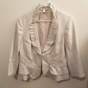 White House Black Market Cream Blazer
